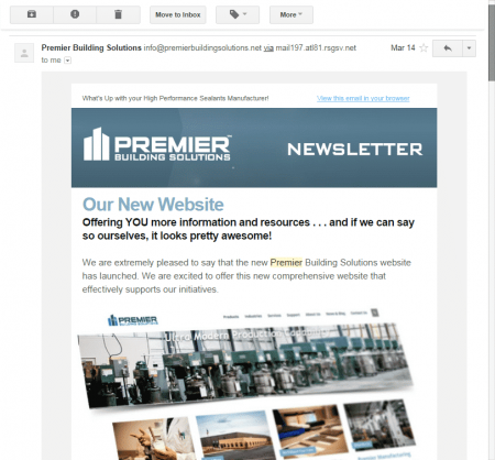 Premier's Newsletter sent to your Inbox.